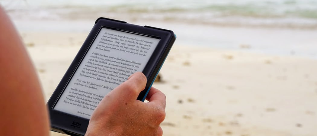 e reader voor op vakantie strand zwembad