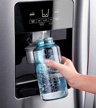 Amerikaanse koelkast met dispenser