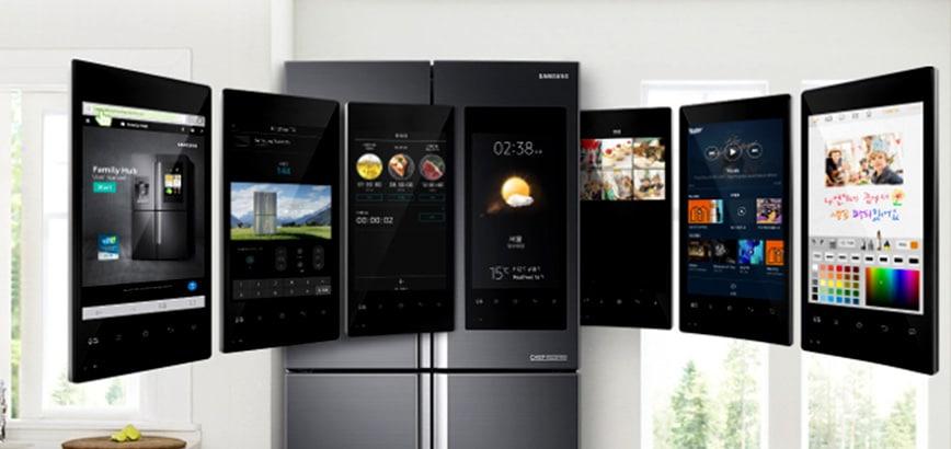 smart koelkast met display scherm