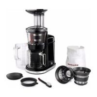 kitchenaid juicer traag sap