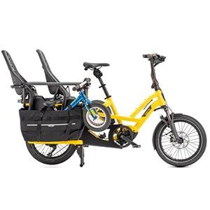 elektrische longtail fiets met twee kinderzitjes