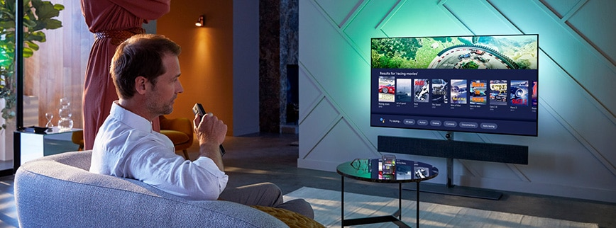 Ambi lights achterverlichting philips OLED tv