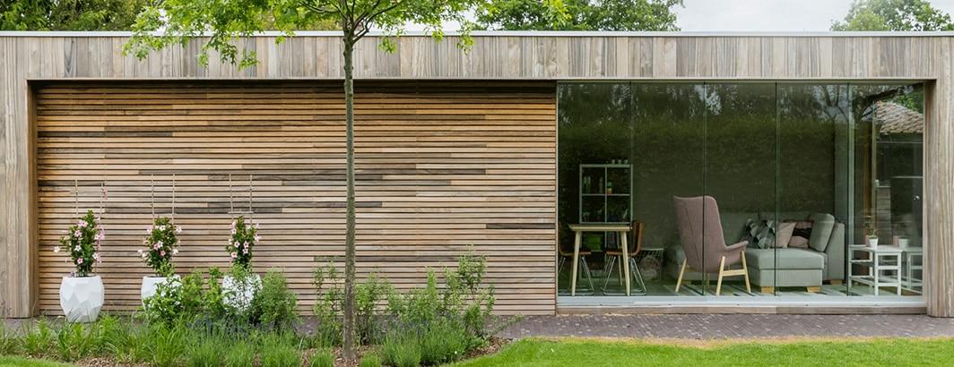 groot hout tuinhuis