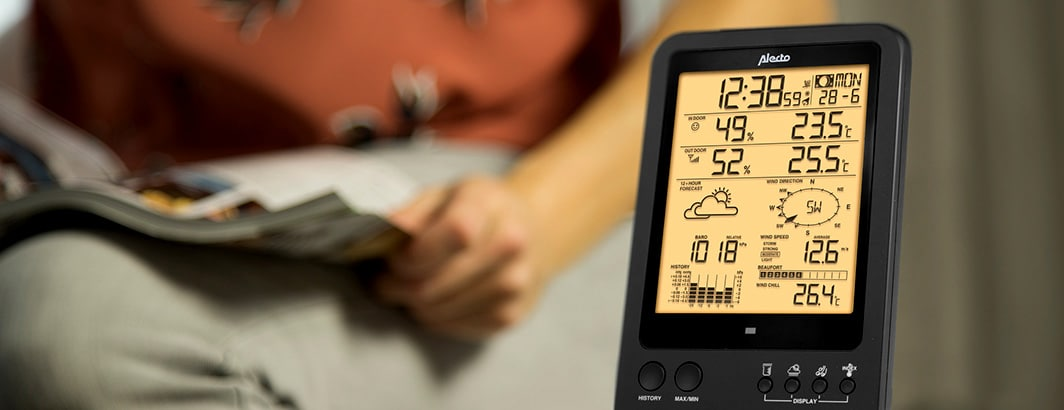 luchtvochtigheid en temperatuur in huis meten