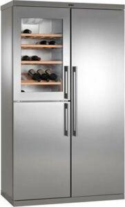 Amerikaanse koelkast met wijnkoeler