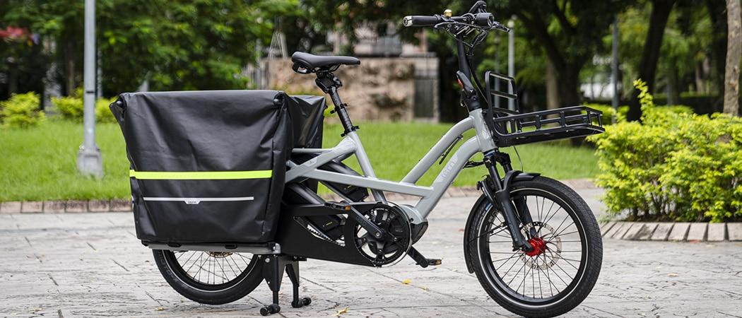 elektrische long tail fiets met kinderzit
